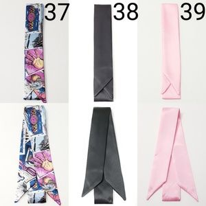 New! 2pc Any Design From 37 to 39 Satin Scarves